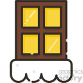 snowy windows vector icon