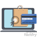 online shopping checkout vector icon