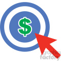 marketing target vector icon