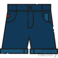 blue shorts vector art