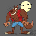 Clipart Illustration Angry Werewolf Cartoon Mascot Character Vector Illustration With Background