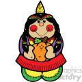 vector indian girl