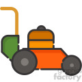 lawn mower vector royalty free icon art