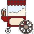 popcorn cart vector royalty free icon art