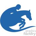 horse jockey vector icon