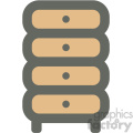 clothing dresser furniture icon