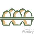 eggs food vector flat icon design