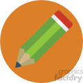 pencil circle background vector flat icon