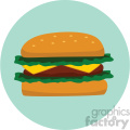 cheese burger icon clipart with circle background