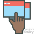 brown hand clicking web hosting vector icons