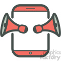 music app smart device vector icon