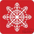 white snowflake vector icon