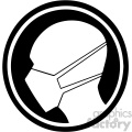 black and white face masks required symbol vector illustration