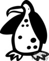 black and white spotted penguin  gif