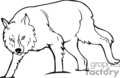 wolf wolfs dog dogs   anml064_bw clip art animals  gif