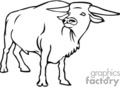 cow cows cattle ox   anml094_bw clip art animals  gif
