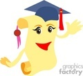 A Happy Face on a Diploma with a Blue Cap and a Red Tassel