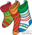 Colorful Stockings Hung For Christmas