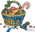 Colorful Fruit Basket with Blue Ribbon
