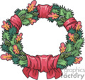 christmas wreath with fall leaves added