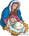 Maria and baby Jesus