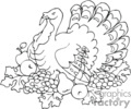 thankgiving thanksgiving thanks giving turkey turkeys   spel228_bw clip art holidays thanksgiving  gif