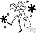 people shopping shop stores   pple018_bw clip art people  gif
