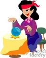 A Fortune Teller Using her Crystal Ball