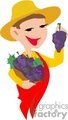 a worker holding grapes picked from the vineyard gif, jpg