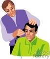 people working hairdressers hairdresser beautician barber barbers   1004occupations028 clip art people