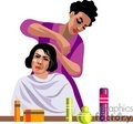 people working hairdresser beautician barber barbers   1004occupations034 clip art people  gif, jpg