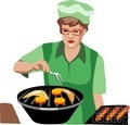 people working barbeque grill grilling cooking cook   1004occupations048 clip art people  gif, jpg