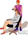 people working beautician hairdresser barber barbers   1004occupations052 clip art people  gif, jpg