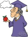 bubble thought thoughts people thinking comic comics funny characters graduation school apple apples   thoughtbubble035 clip art people
