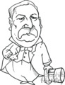 black and white Grover Cleveland