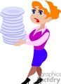 people working occupational dish dishes cleaning   occupational014yy clip art people occupations  gif, jpg