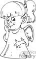 Black and white little girl angel