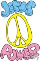 Jesus power cartoon symbol