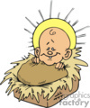 cartoon baby Jesus