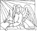 christian religion religious angel angels lds   christian_ss_bw_121 clip art religion christian  gif