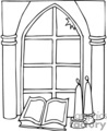 drawing of a Church window
