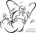 christian religion religious angel angels lds   christian_ss_bw_151 clip art religion christian  gif