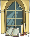 cartoon church window