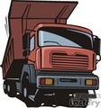 truck trucks autos vehicles heavy equipment dump   transportationss0030 clip art transportation land  gif, jpg