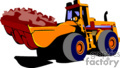 yellow tractors loading up dirt gif