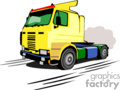 cartoon construction semi truck