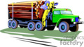 heavy equipment construction truck trucks logs log   transport_04_053 clip art transportation land