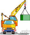 heavy equipment construction truck trucks crane cranes   transport_04_058 clip art transportation land  gif