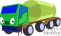 heavy equipment construction truck trucks tanker   transport_04_098 clip art transportation land  gif