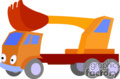 heavy equipment construction truck trucks front loader   transport_04_118 clip art transportation land  gif